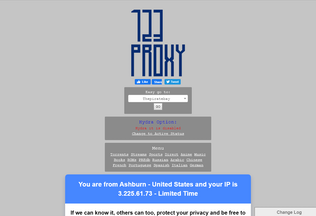 Website 123megaproxy.com desktop preview