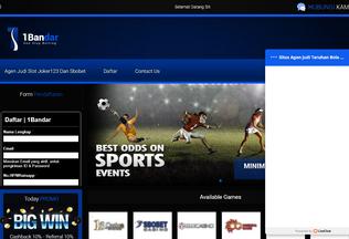 Website 1bandgame.com desktop preview
