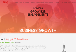 Website 24by7itsolutions.com desktop preview