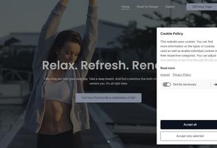 Website 300-hour-yoga.jimdosite.com desktop preview