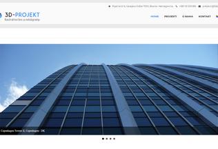 Website 3dprojekt.ba desktop preview