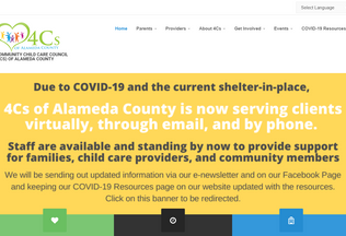 Website 4c-alameda.org desktop preview