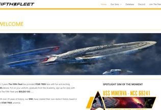 Website 5thfleet.net desktop preview