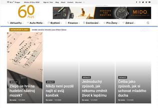 Website 60plus.cz desktop preview