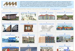 Website aagemyhre.no desktop preview