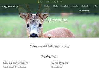 Website aarslevjagtforening.dk desktop preview