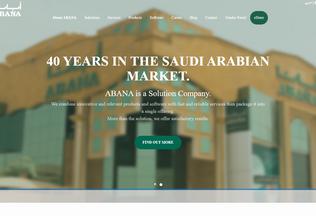Website abana.com.sa desktop preview