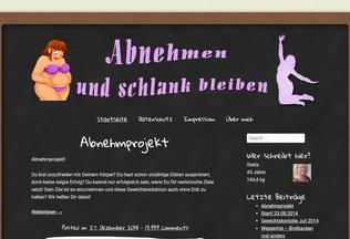 Website abnehmen-schlank-bleiben.net desktop preview