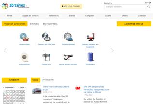 Website abrasive.info desktop preview