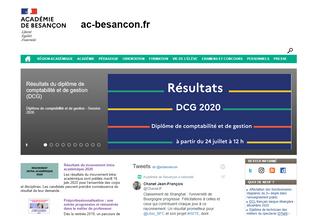 Website ac-besancon.fr desktop preview