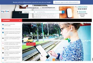 Website acheter-fichier-email.fr desktop preview