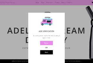 Website adelaidecreamdelivery.com.au desktop preview
