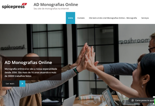 Website admonografiasonline.net desktop preview