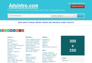 Website adsintro.com desktop preview