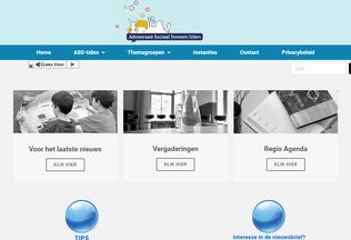 Website adviesraadsociaaldomein-uden.nl desktop preview
