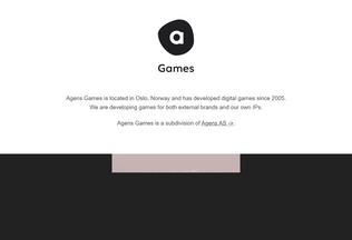 Website agensspill.no desktop preview
