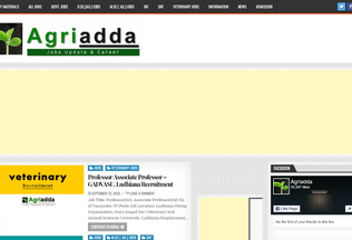 Website agriadda.in desktop preview