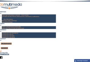 Website aide-multimedia.fr desktop preview