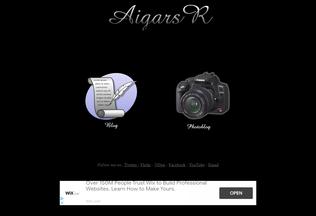 Website aigars.info desktop preview