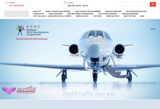 Website aimfill.in desktop preview