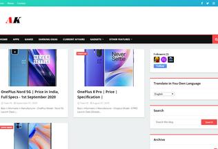 Website ak47news.in desktop preview