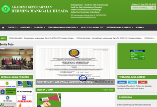 Website akperherminamanggalahusada.ac.id desktop preview