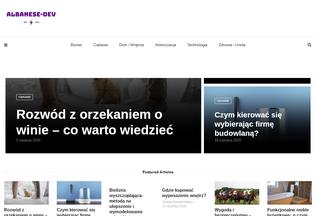 Website albanese-dev.com desktop preview