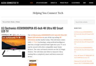 Website alexaconnectedtv.com desktop preview