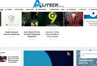 Website alitech.com.ng desktop preview
