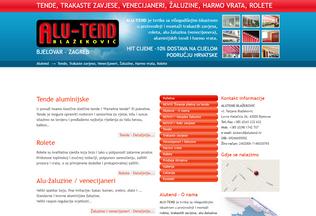 Website alutend.hr desktop preview
