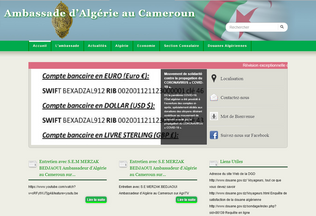 Website ambassade-algerie-cameroun.org desktop preview