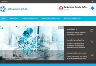 Website aminokyselina.cz desktop preview
