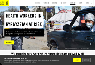 Website amnesty.org desktop preview