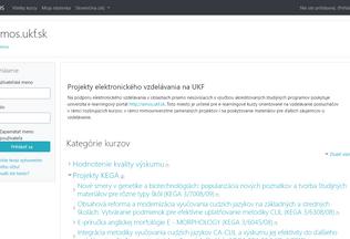 Website amos.ukf.sk desktop preview