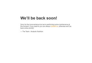 Website anabolicnutrition.in desktop preview