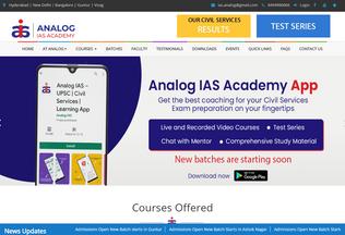 Website analogeducation.in desktop preview