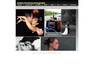 Website andrewbrowningphoto.com desktop preview