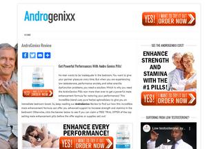 Website androgenixx.net desktop preview