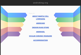 Website androking.org desktop preview