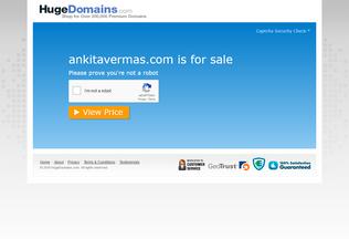Website ankitavermas.com desktop preview