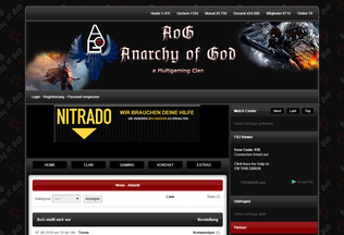 Website aog-gaming.de desktop preview