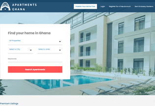 Website apartments.com.gh desktop preview