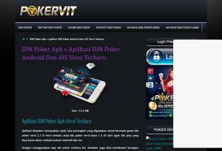 Website aplikasiidnpoker.com desktop preview