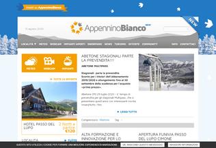 Website appenninobianco.it desktop preview
