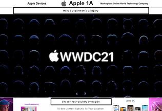 Website apple1a.com desktop preview
