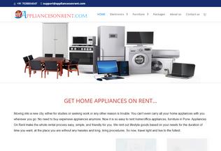 Website appliancesonrent.com desktop preview