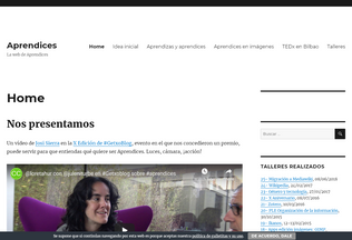 Website aprendices.net desktop preview