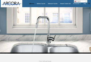 Website arcorafaucet.com desktop preview
