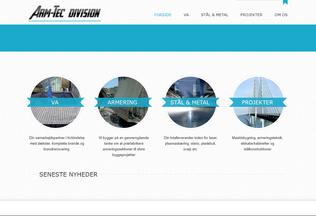 Website arm-tec.dk desktop preview