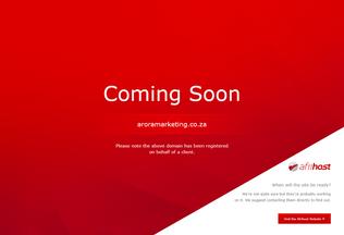 Website aroramarketing.co.za desktop preview